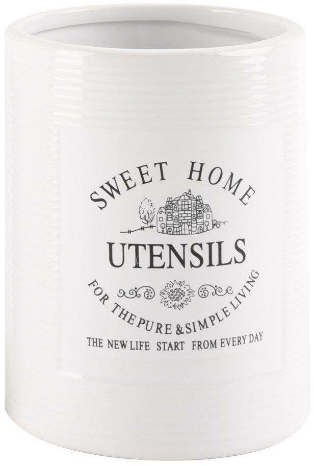 Stojak pojemnik ceramiczny SWEET HOME na przybory kuchenne sztućce