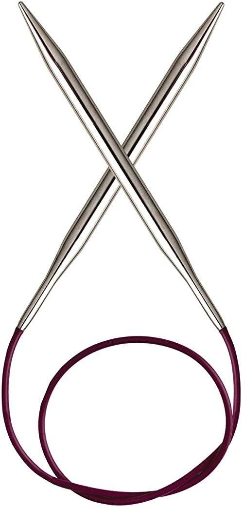 KnitPro Nova Metal: Knitting Pins: Circular: Fixed: 50 cm x 2,25 mm, srebrny