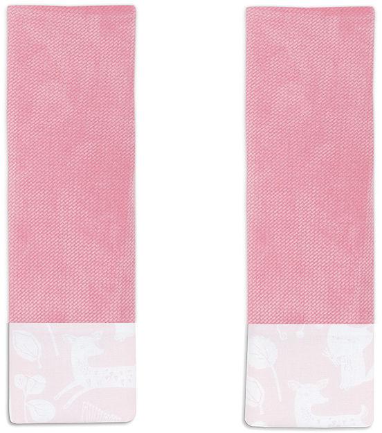 MAMO-TATO Ochraniacze na pasy do wózka Las pastelowy róż / różany