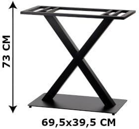 Podstawa stolika podwójna SH-3007-2/B, (stelaż stolika), kolor czarny