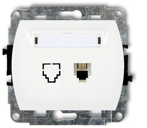 Mechanizm gniazda telefonicznego pojedynczego TREND biały GT-1