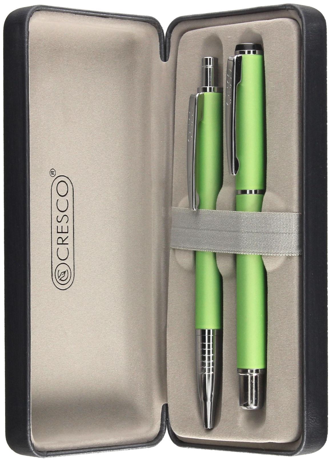 Komplet pióro wieczne + długopis seledynowy etui Winner Pastel 880055