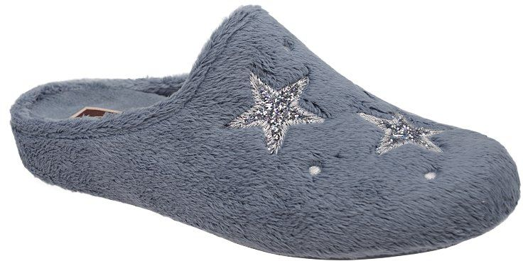 Kapcie MANITU 320576-5 Jeans Popiel Pantofle domowe Ciapy - Jeans Popielaty