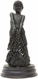 Better & Best 1490003  figurka mosiądz, ryby dziecięce z siatką, czarna