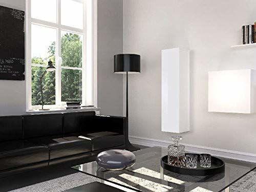 Theta Design by Homemania Szafa, szafka Graz, korpus: biały matowy, front: biały wysoki połysk PCW