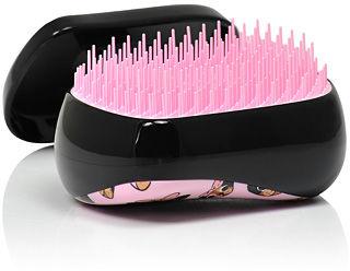 Tangle Teezer Compact Styler Pug Print Różowa szczotka do włosów z mopsikami 1 szt.
