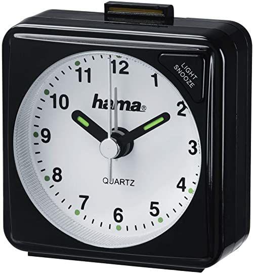 Hama Zegar podróżny, czarny, 5,6 x 3 x 5,6 cm