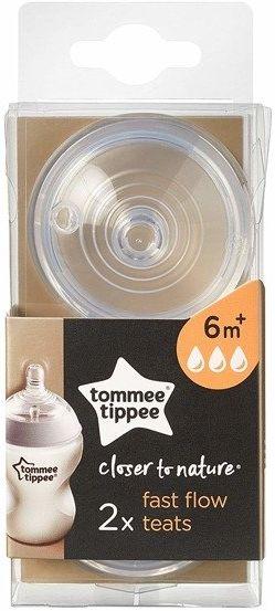 Smoczek Tommee Tippee 6m+ szybki
