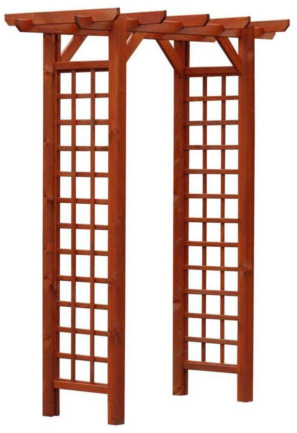 Pergola ogrodowa 165 x 80 x 214 cm drewniana WIEN/VITRUM WERTH-HOLZ