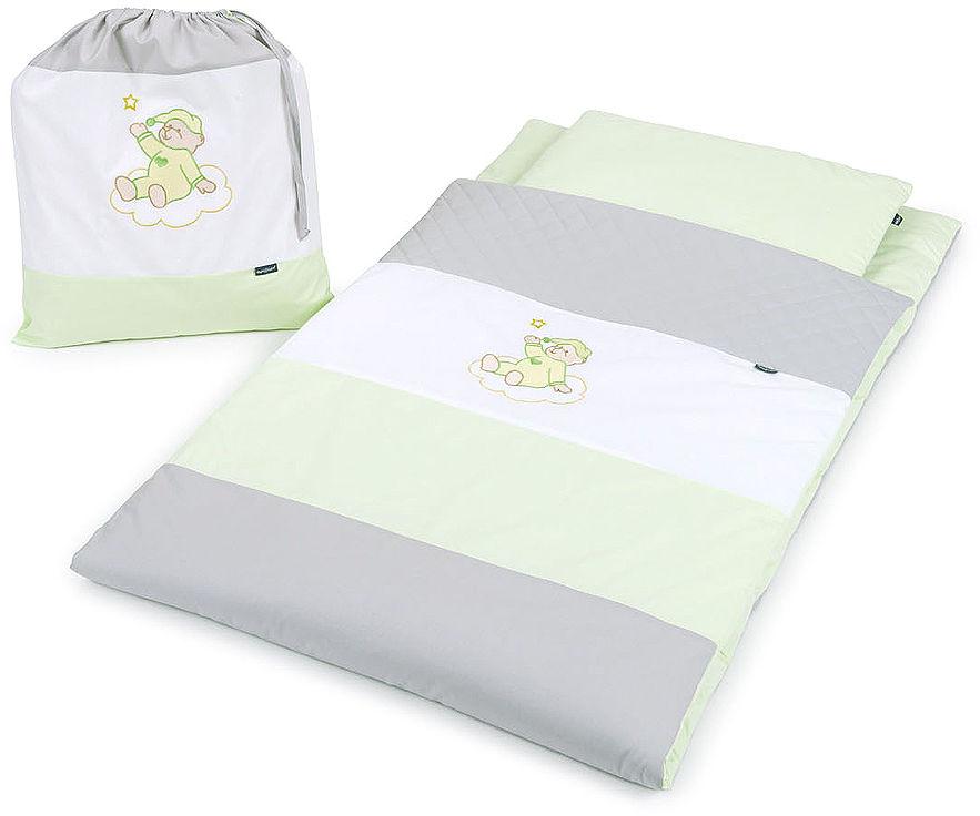 Pościel dla przedszkolaka / do przedszkola na leżak + worek - Zielony