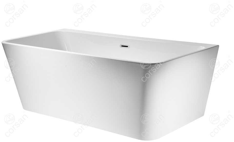 Corsan wanna wolnostojąca akrylowa ISEO 160x75x58 cm E019L + syfon klik-klak/ biała