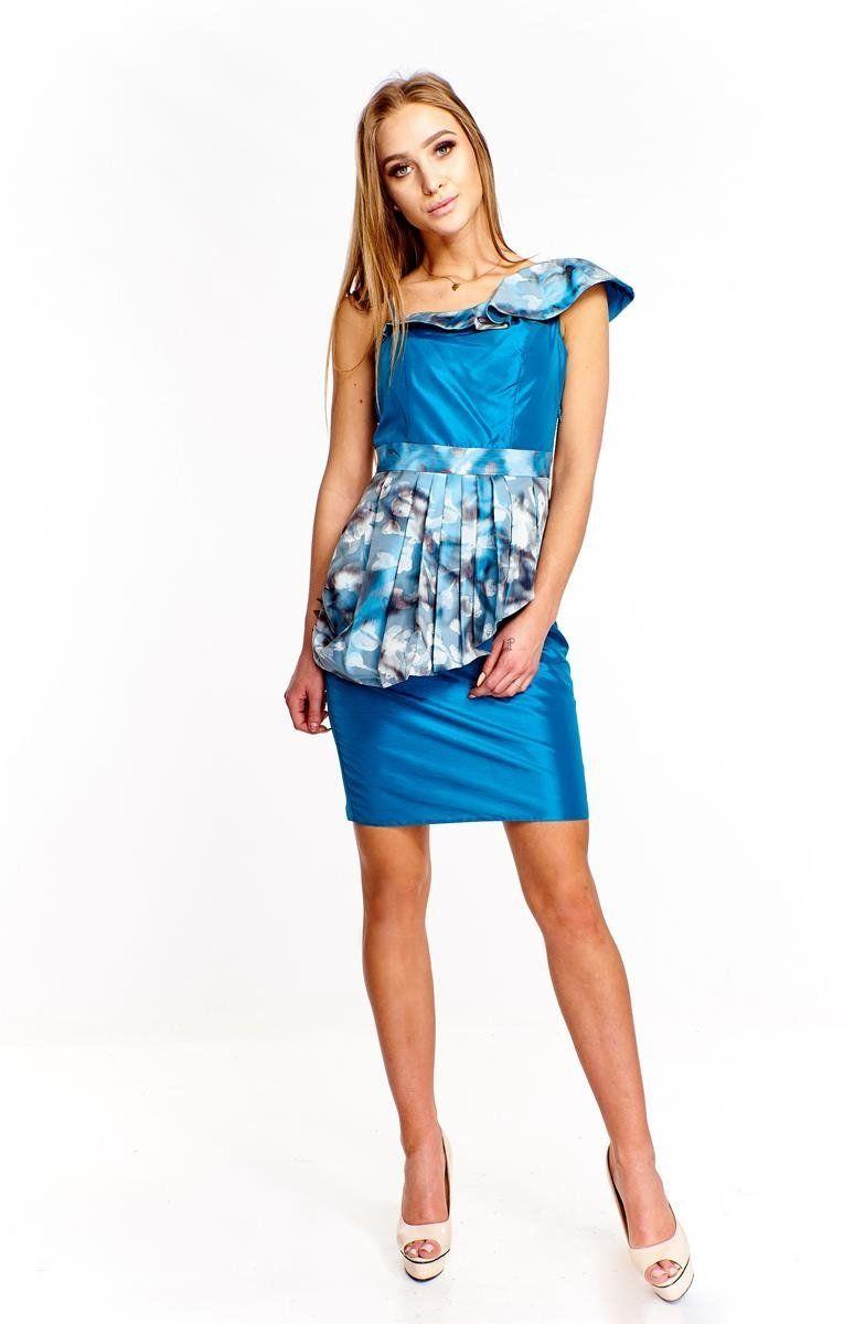 Sukienka FSU217 ZIELONY MORSKI