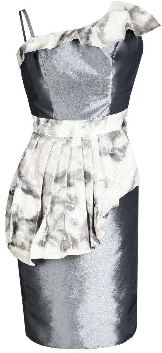 Sukienka FSU217 SZARY