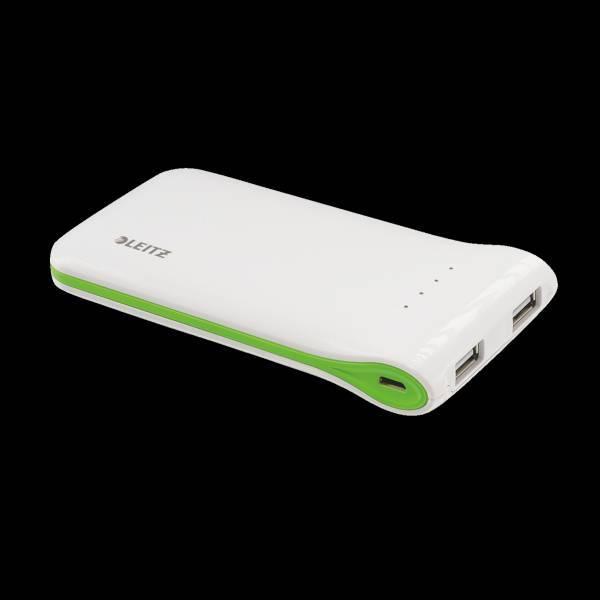 Przenośna ładowarka USB do urządzeń mobilnych, biały POWER BANK USB 5000 mAh - X02815