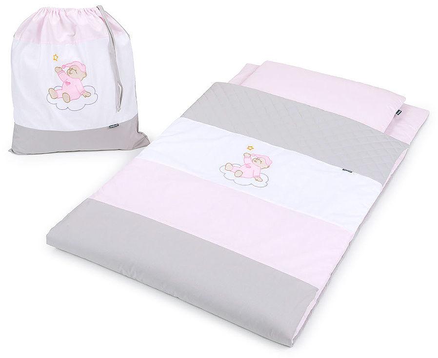 Pościel dla przedszkolaka / do przedszkola na leżak + worek - Róż