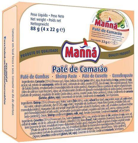Portugalska pasta z krewetek 4x22g Manná