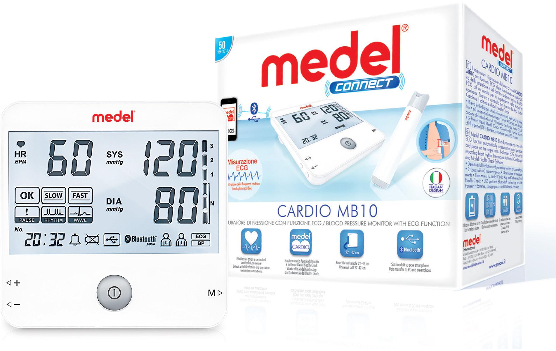 MEDEL Connect Cardio MB10 Ciśnieniomierz naramienny 22-42 cm z Bluetooth i funkcją EKG