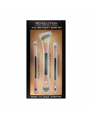 Makeup Revolution Flex & Sculpt Brush Set zestaw pędzli