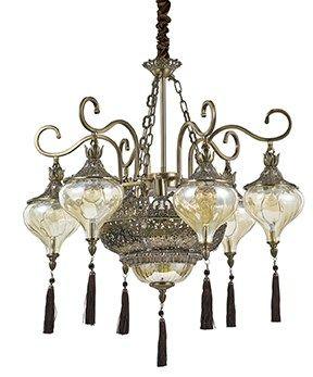 Lampa wisząca Harem SP9 116006 Ideal Lux oprawa w stylu rustykalnym