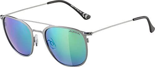 ALPINA Unisex - Dorośli, ZUKU Okulary przeciwsłoneczne, gun matt/green, One Size