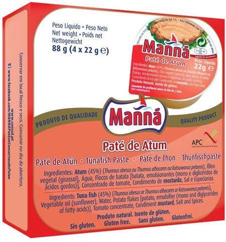 Portugalska pasta z tuńczyka 4x22g Manná