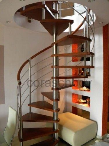 Schody spiralne CORA model Bawaria vertical ø 130 cm