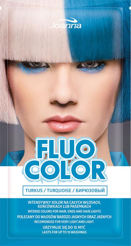 Joanna Fluo Color Szampon koloryzujący do włosów Turkus 35g