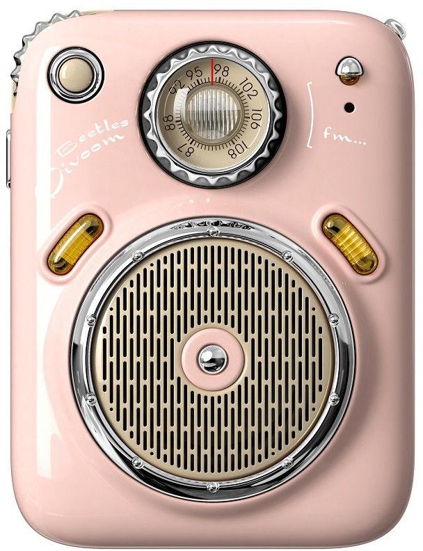 Divoom Beetles-FM różowy przenośny głośnik BT z radiem FM +9 sklepów - przyjdź przetestuj lub zamów online+