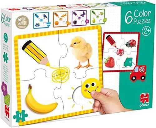 Goula 53475 drewniane puzzle, wielokolorowe