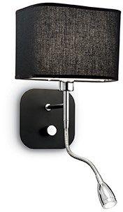 Kinkiet Holiday AP2 124179 Ideal Lux funkcjonalna oprawa w kolorze czarnym