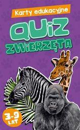 Karty edukacyjne Quiz Zwierzęta ZAKŁADKA DO KSIĄŻEK GRATIS DO KAŻDEGO ZAMÓWIENIA
