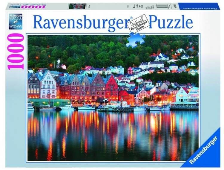Puzzle 1000 Bergen Norwegia - Ravensburger