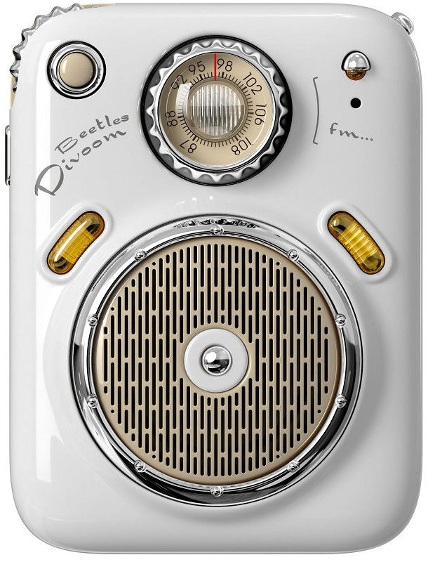 Divoom Beetles-FM biały przenośny głośnik BT z radiem FM +9 sklepów - przyjdź przetestuj lub zamów online+