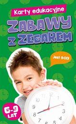 Karty edukacyjne Zabawy z zegarem ZAKŁADKA DO KSIĄŻEK GRATIS DO KAŻDEGO ZAMÓWIENIA