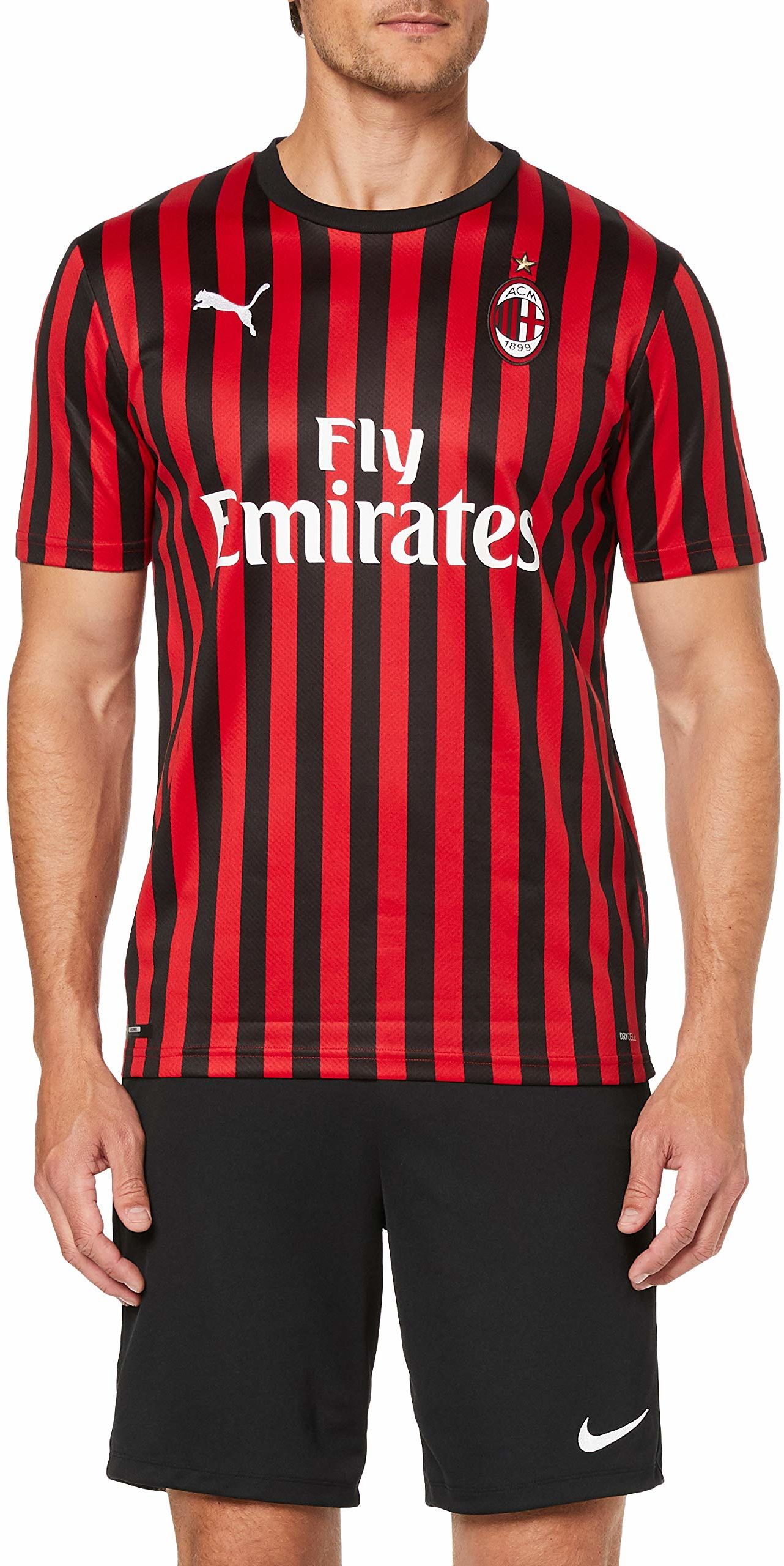 Puma Męska koszulka AC Milan 1899 repl. T-shirt z nadrukiem Romagnoli, Tango Red Black, XL