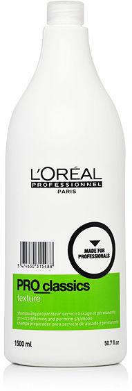 Loreal PRO Classics Texture Szampon przygotowujący do zabiegu trwałej ondulacji lub trwałego wygładzania włosów 1500 ml