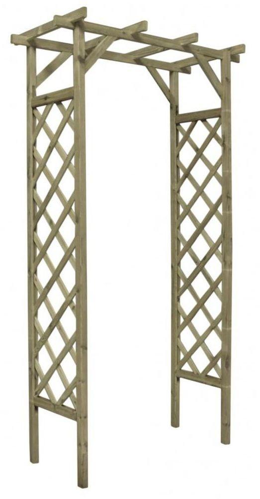 Pergola ogrodowa 120 x 60 x 212 cm drewniana STELMET