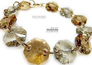 Swarovski Bransoletka Golden Silver Złote Srebro