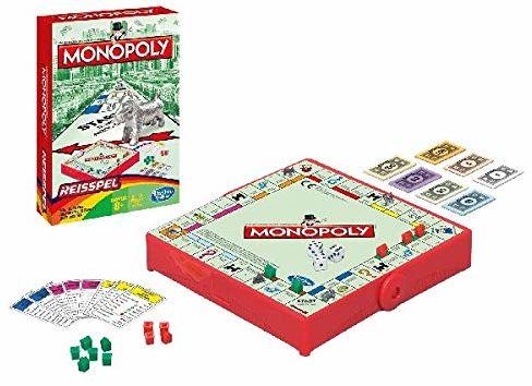 Hasbro Monopoly Grab & Go symulacja gospodarki  gra planszowa (symulacja ekonomiczna, chłopcy/dziewczynka, 8 lat, wielokolorowa)