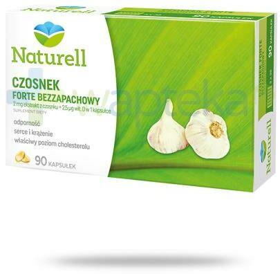 Naturell Czosnek Forte bezzapachowy 90 kapsułek + Naturell witamina C dla dzieci 20tabl.
