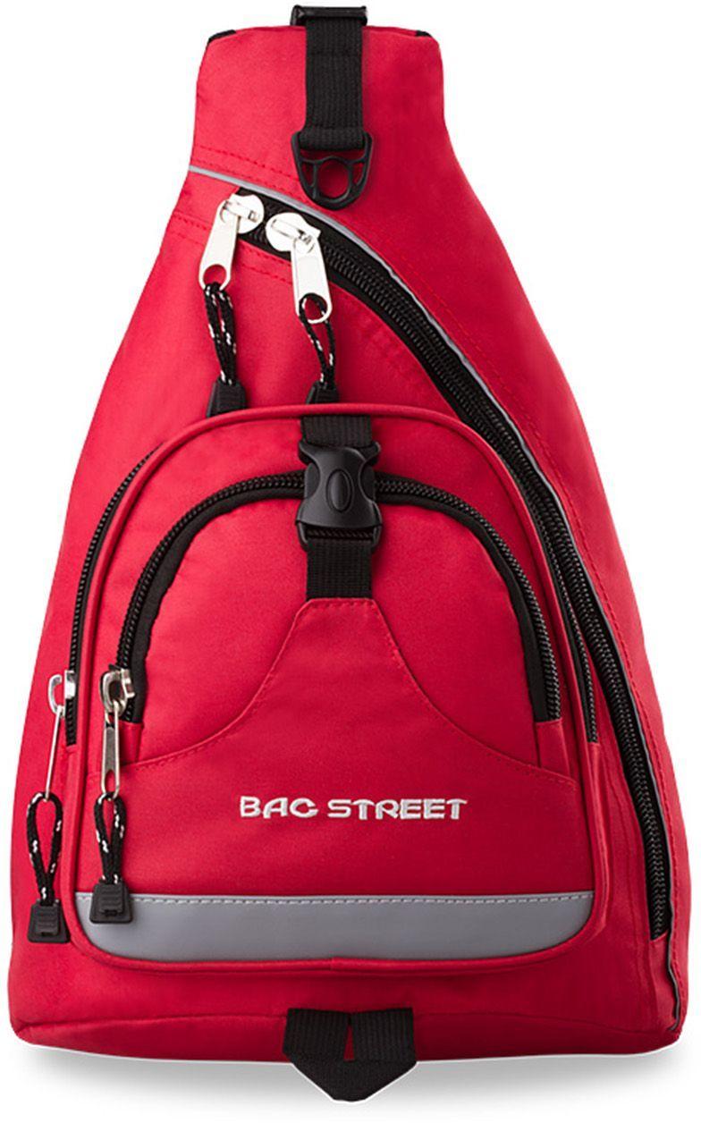 BAG STREET SPORTOWY PLECAK NA 1 RAMIĘ BAG STREET - CZERWONY