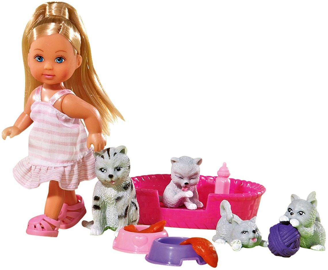 Simba 105734191  Evi Love lalka z przyjaciółmi zwierząt, 2 sztuki