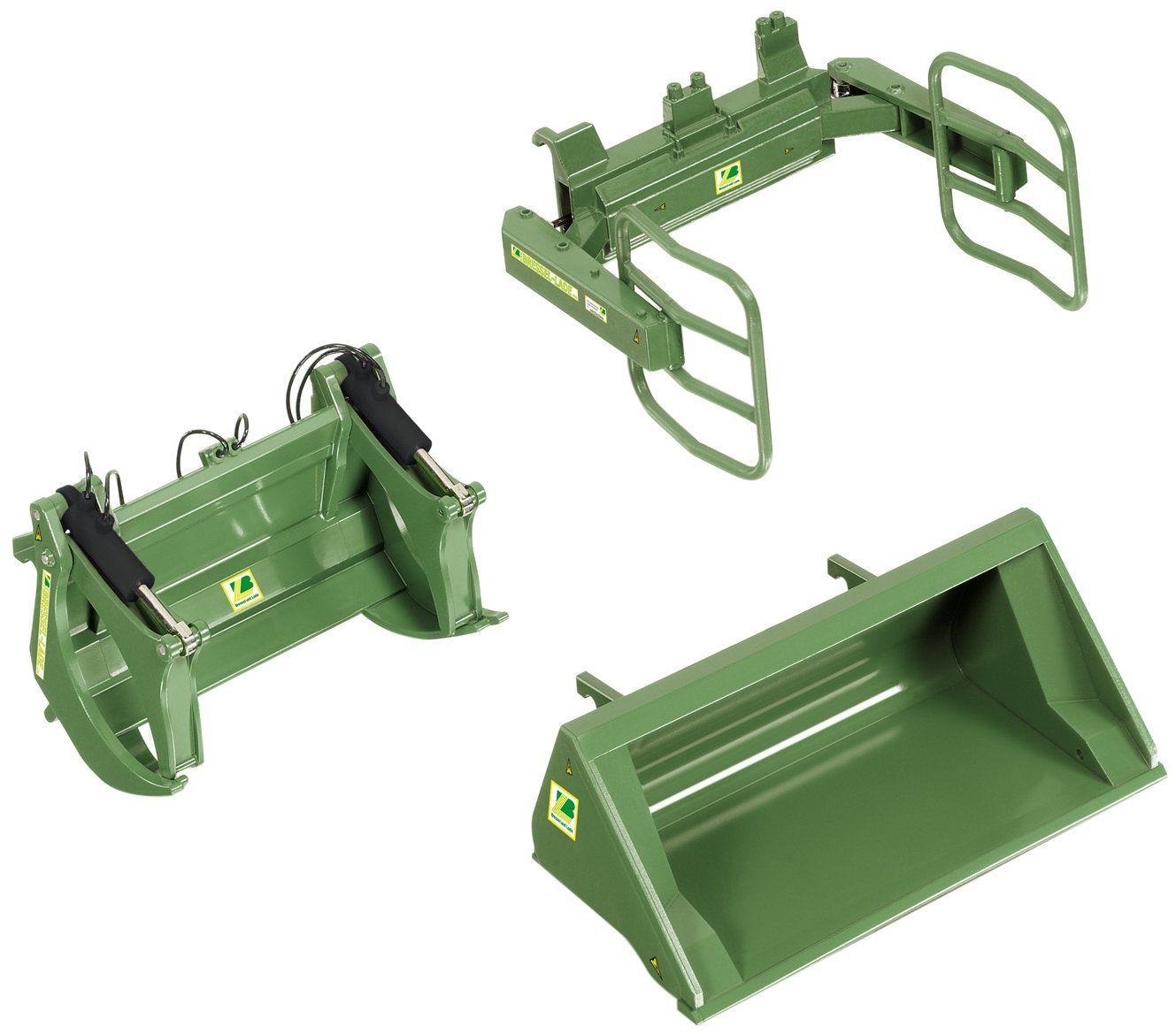 Wiking 7383 - Załadunek od przodu zestaw narzędzi A deska i ładowanie, zielony