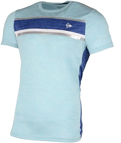 Dunlop Męska koszulka 7222-S Performance Line Crew koszulka, wodna/kobalt, S