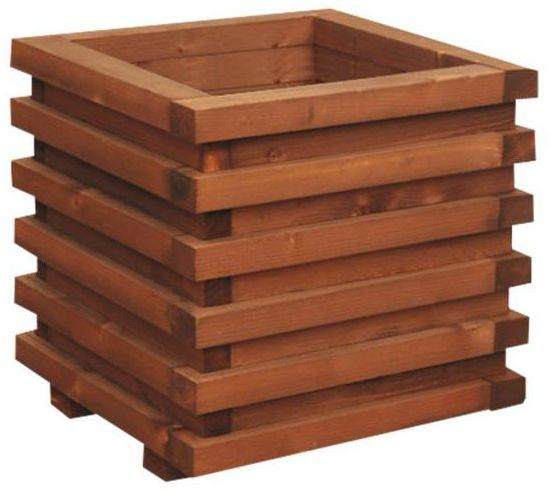 Donica ogrodowa 34 x 34 cm drewniana brązowa WIEN/VITRUM WERTH-HOLZ