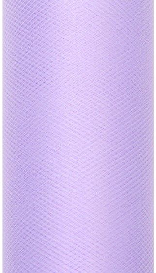 Tiul dekoracyjny liliowy 15cm x 9m 1 rolka TIU15-004