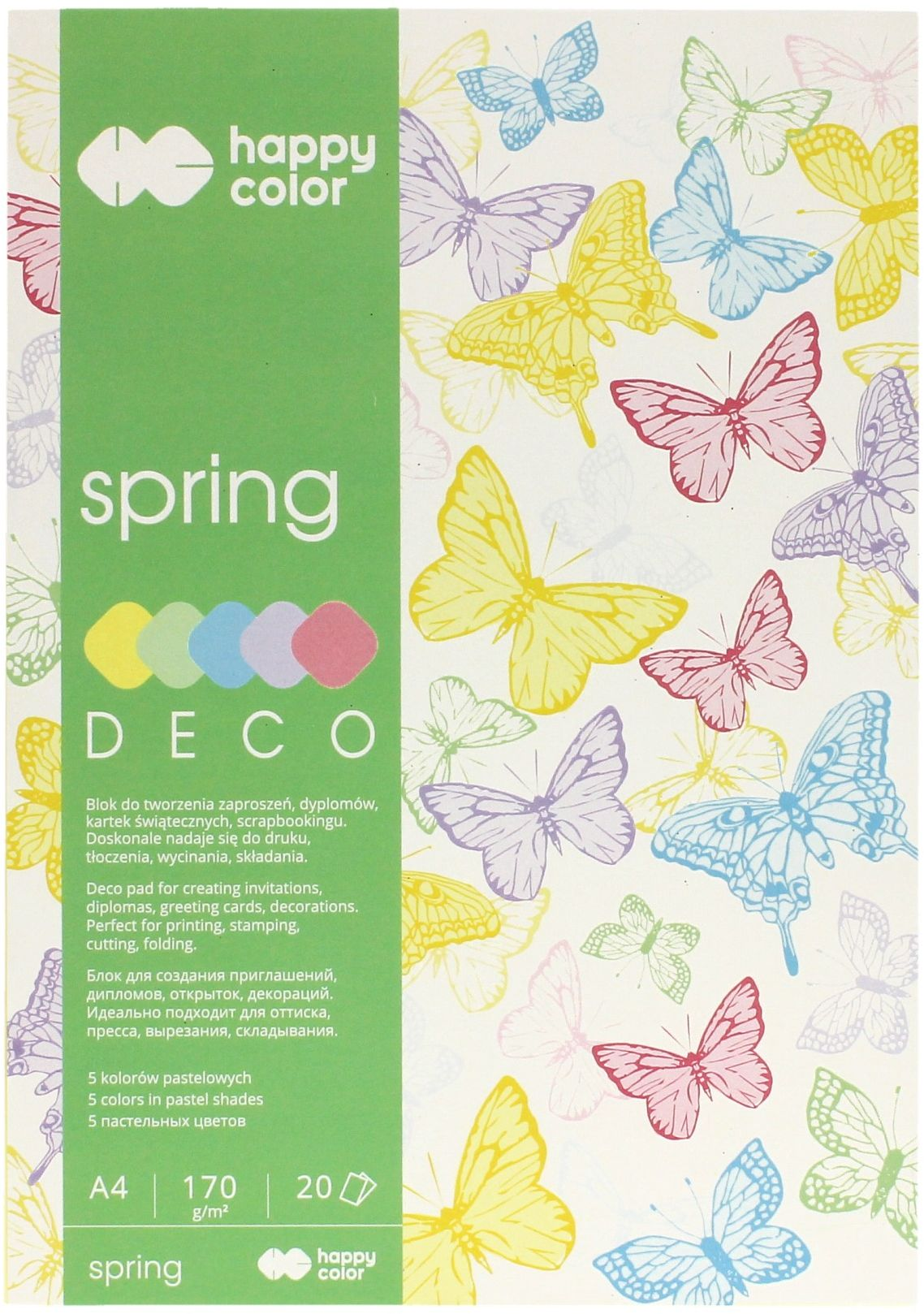 Blok Deco A4/20 5kol 170g Spring Happy Color