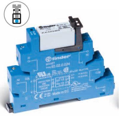 Przekaźnikowy moduł sprzęgający Finder 38.01.7.024.0050 Moduł sprzęgający, przełączny 1CO (SPDT) 16 A AgNi 24 V DC wykonanie czułe, tylko dla (6, 12, 24, 48, 60V) Finder 38.01.7.024.0050