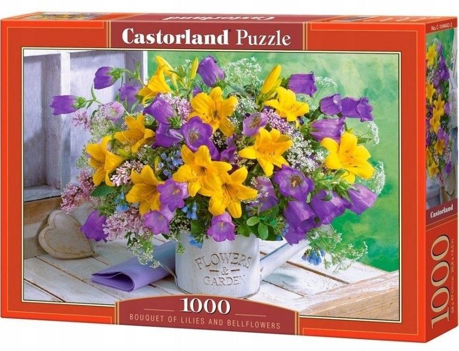 Castorland Puzzle 1000 Bouquet of Lilies and Bellflowers, Bukiet lilii i dzwonków