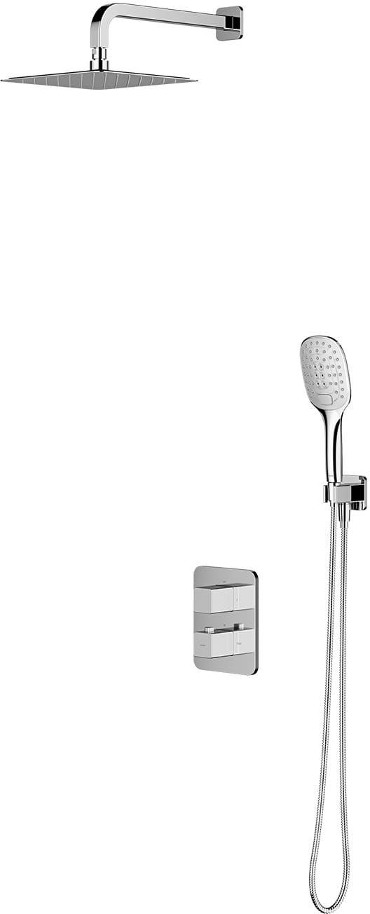 OMNIRES Termostatyczny system prysznicowy podtynkowy Parma, chrom SYSPM11CR